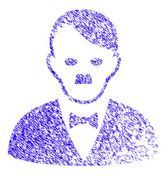 Hitler manager icon grunge watermark vector