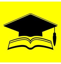 icon graduate cap vector image