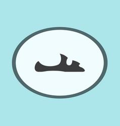 Icon in flat design fashion footwear flip flops vector