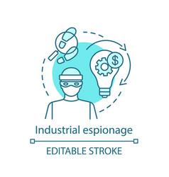 Industrial espionage concept icon vector