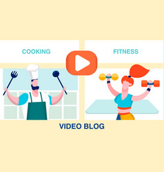 internet blog choice flat vector image