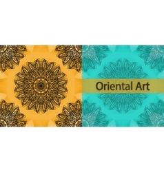 Invitation Cover Based on Oriental Art Print Yoga vector