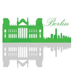 Isolated Berlin skyline vector image