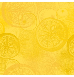 Lemon citrus fruit Wallpaper seamless pattern vector