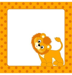 Lion Card vector image