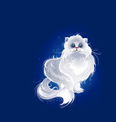 magic Persian cat vector image