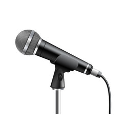microphone element audio equipment for vector image