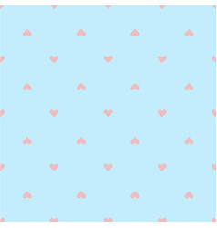 modern pink heart pattern blue background i vector image