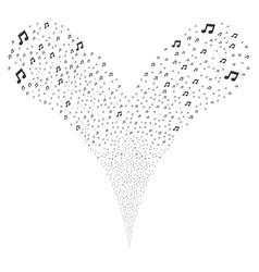 Music fountain stream vector