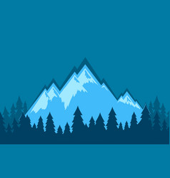 Nature landscape wallpaper with mountains vector