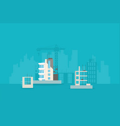 new building development vector image