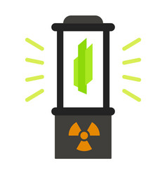 Nuclear fusion box icon flat style vector