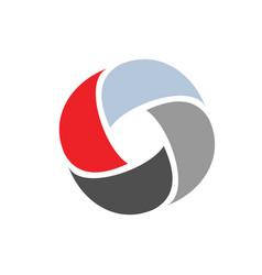 o logo abstract colorful vector image