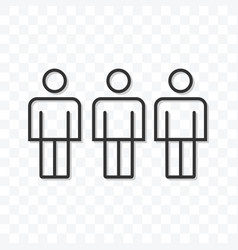 outline friend icon isolated on transparent vector image