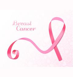 pink ribbon banner vector image