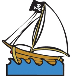 Pirate Boat vector image