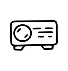 Projector line doodle simple icon design vector