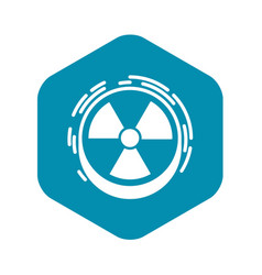 Radiation sign icon simple style vector