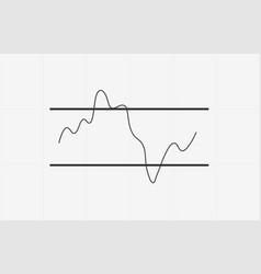 rsi indicator technical analysis flat icon vector image