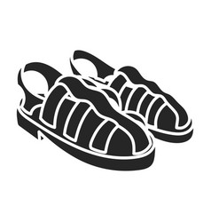 Sandal iconblack icon isolated on vector