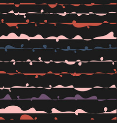 Seamless pattern with abstract wavy lines hand vector