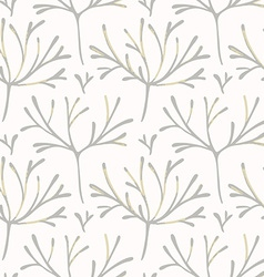 Seamless pattern with hand drawn branches vector
