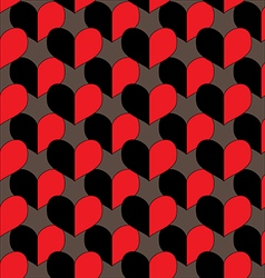 seamless pattern with heart in retro style vector image