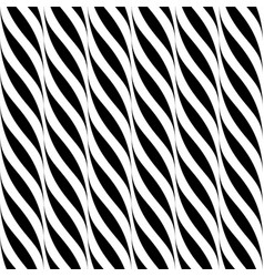 seamless wavy pattern weave striped black vector image