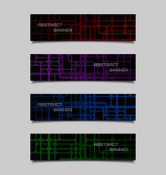set of abstract technology banners vector image