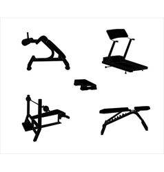 Set of Sports Trainer Simulator Isolated vector