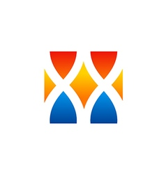 Shape unusual abstract technology logo vector