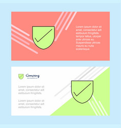 Sheild abstract corporate business banner vector