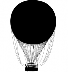 Silhouette of air balloon vector