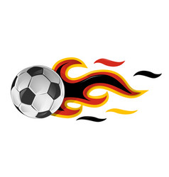 soccer ball on fire with germany flag vector image