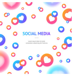 social media element concept banner card vector image