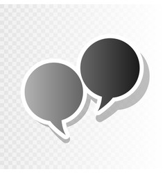 speech bubble sign new year blackish icon vector image