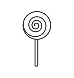 Spiral lollipop linear icon vector