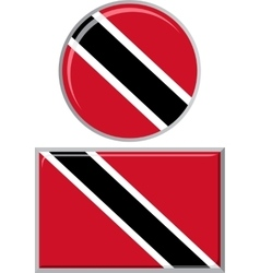 Trinidad and Tobago round square icon flag vector image
