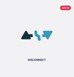 Two color disconnect icon from user interface vector