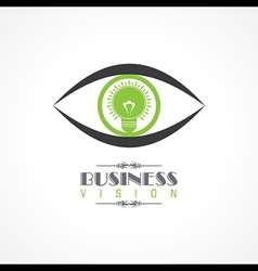 Vision and idea concept- eye with lightbulb symbol vector
