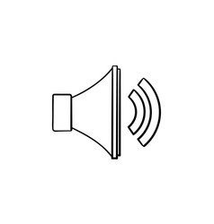 volume control hand drawn outline doodle icon vector image