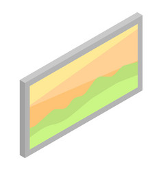 Wall picture landscape icon isometric style vector