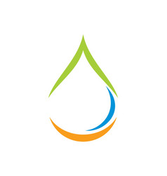 Water drop bio ecology abstract logo vector