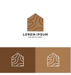 Wood house home grain timber lumber logo icon vector