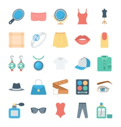 Fashion and Clothes Icons 3 vector image vector image