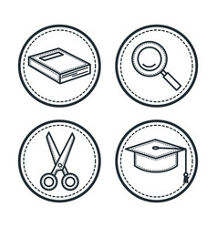 Hand drawn icons vector