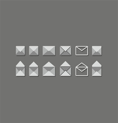 mail set vector image vector image