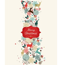 Merry Christmas pattern banner vector image