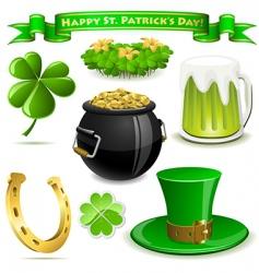 Saint Patrick's day symbols vector image vector image