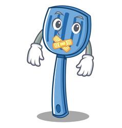 silent spatula character cartoon style vector image vector image